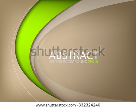 stock-vector-abstract-vector-background-brown-element-with-green-curve-line-on-brown-space-for-text-and-message