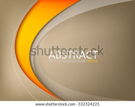 stock-vector-abstract-vector-background-brown-element-with-orange-curve-line-on-brown-space-for-text-and-message