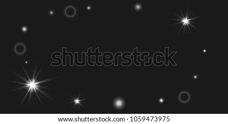 Abstract vector background. Chaotic stars shine in the night sky. Design element for postcard, poster, business card, cover.