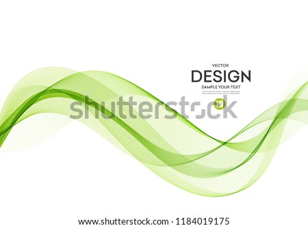 Abstract vector background, color flow waved lines for brochure, website, flyer design. Transparent smooth wave