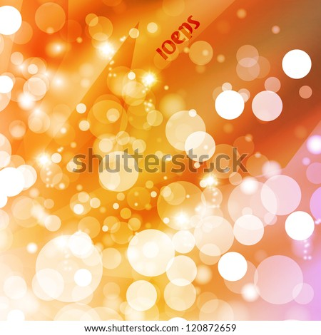 Abstract vector background, colorful lights elements - editable eps10.