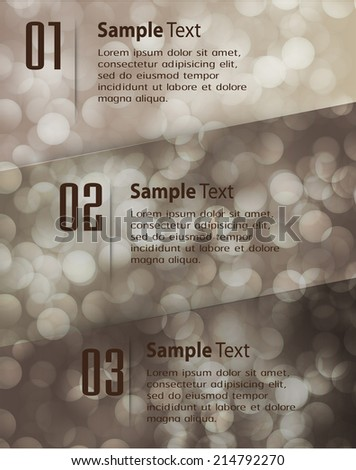 Abstract vector background, colorful lights elements. text box. Festive Christmas background. Elegant abstract background with bokeh defocused lights and stars