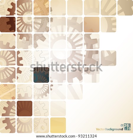 Abstract Vector Background Composition With Cog-Wheel