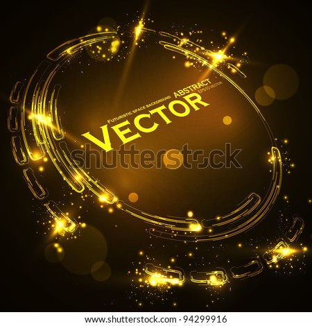 Abstract vector background. Creative dynamic element, shiny space illustration eps10