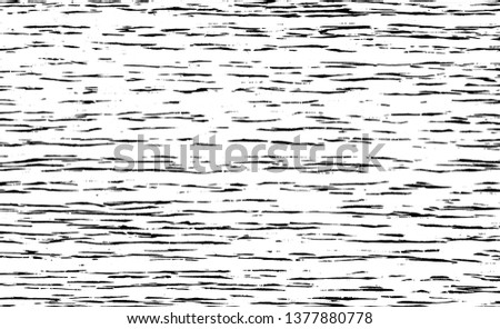 Abstract vector background for design use. Woodcut texture. Black color woodcut stroke. Freehand drawing. Isolated on white background. Vector illustration.