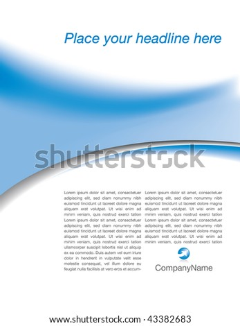 Abstract vector background for web or print use