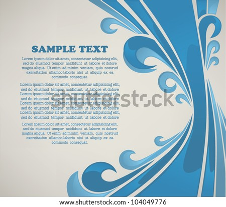 abstract vector background for your text with image of stylized wave
