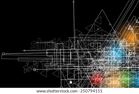 Abstract vector background Futuristic technology style Elegant background for business tech presentations