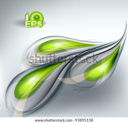 Abstract vector background green