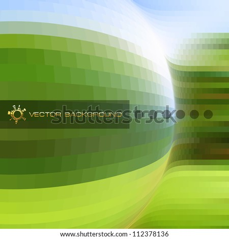 Abstract vector background. Green design template. Brochure cover template. Ecology illustration.