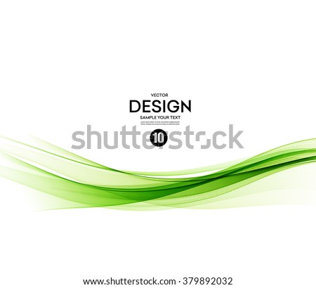 Abstract vector background, green waved lines for brochure, website, flyer design.  illustration eps10