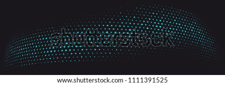 Abstract vector background. Halftone modern graphic template. Black and blue dotted texture.