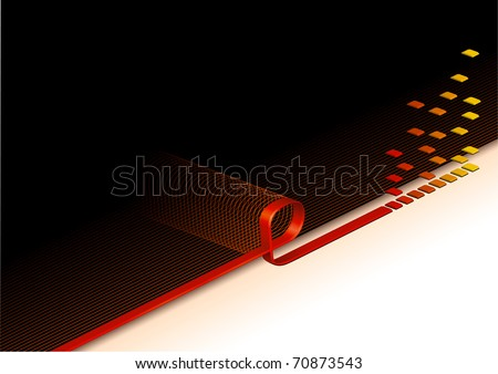Abstract Vector Background Internet Email Data Processing Loop.