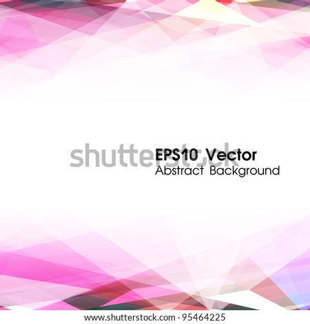 Abstract vector background. Lowpoly illustration. Used opacity mask effect