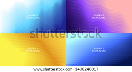 Abstract vector background. Minimalistic colored gradient lines. Set of wallpapers