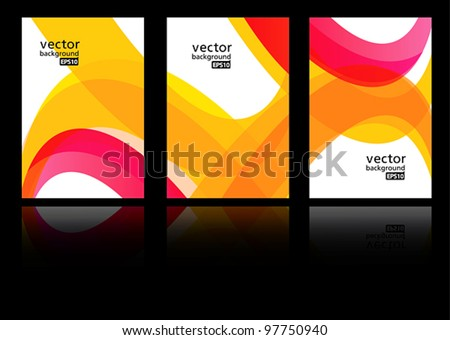 abstract vector background set EPS10