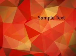 Abstract vector background. Stylized gradient polygons