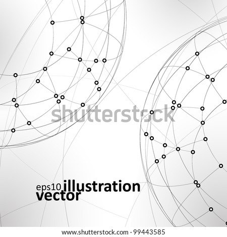 Abstract vector background,  technology illustration, stylish eps10