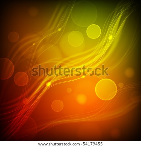 Abstract Vector Background - Transparent Lights on Colorful Wave. EPS10