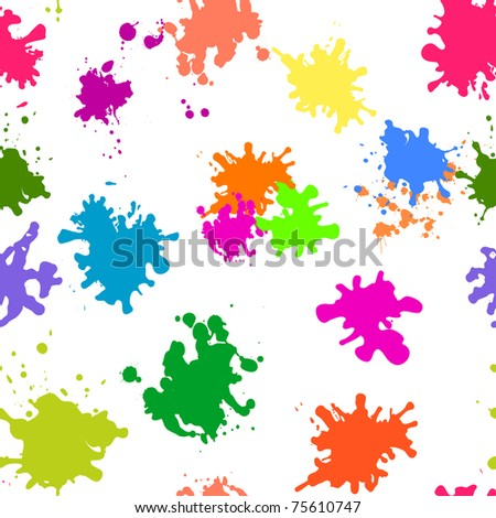 Abstract vector background, various colored stains blots on white