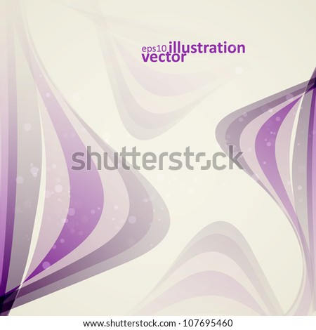 Abstract vector background, vintage lines illustration eps10 - stock vector