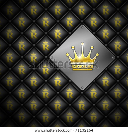 Abstract vector background with crown. Leather upholstery. Vector illustration eps 10