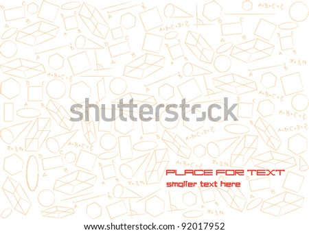 abstract vector background with different geometric figures and place for your text