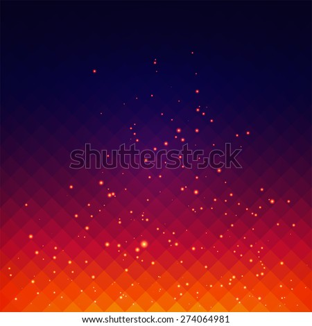 Abstract vector background with fire sparks effect