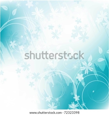 abstract vector background with flower