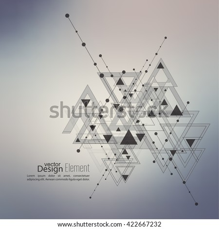 Abstract vector background with geometric shapes intersecting.