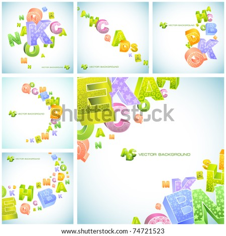 Abstract vector background with letters. Great collection. - stock vector