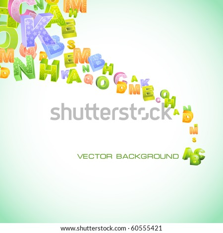 Abstract vector background with letters. Vector illustration.