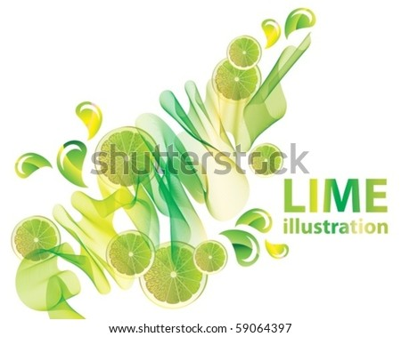 Abstract vector background with lime