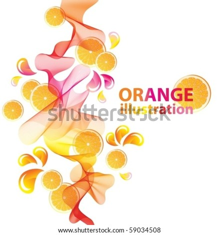Abstract vector background with orange