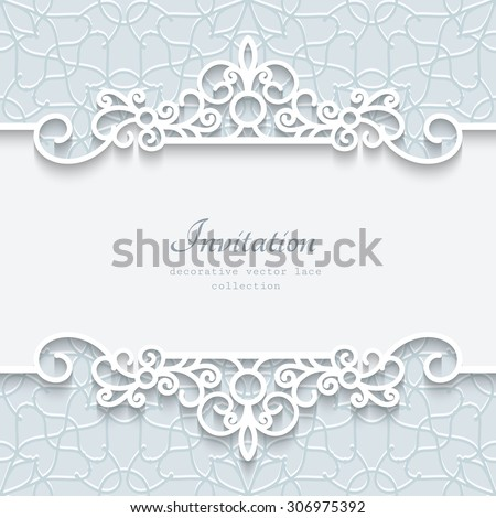 Abstract vector background with paper divider, header, ornamental frame, eps10 #306975392