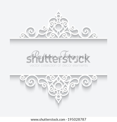 Abstract vector background with paper dividers header ornamental frame eps10