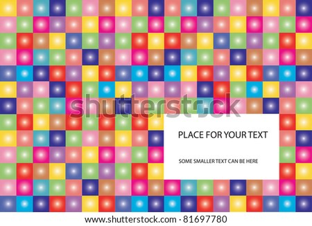 vector-background-with-place-for-your-text-checkered-background ...