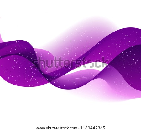 Abstract vector background with purple smooth color wave.
