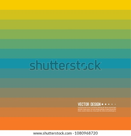 Abstract vector background with rhythmic rectangular horizontal stripes. Transition and gradation of color.