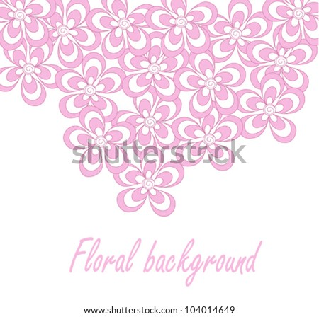 Abstract vector background with simple flower
