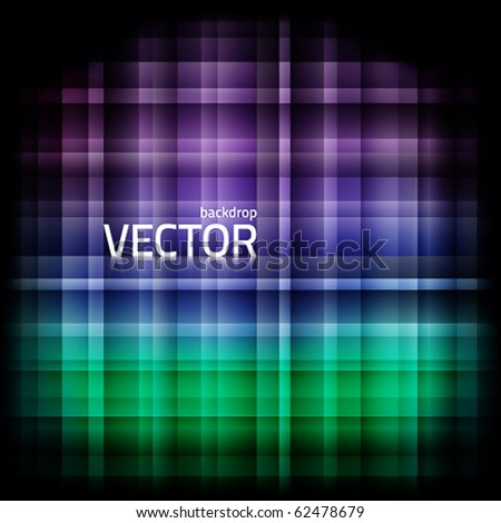 Abstract vector background with squared pattern and vignette