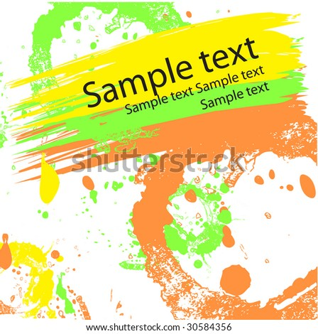 Abstract vector background with stains and blots