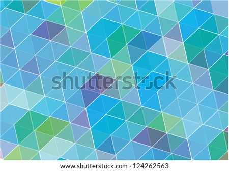 abstract vector background with symmetrical shapes in blue