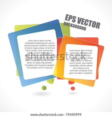 Abstract vector background with two rectangular speech bubbles