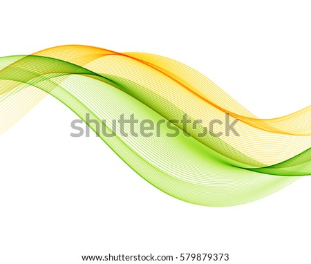 Abstract vector background with yellow and green smooth color wave.