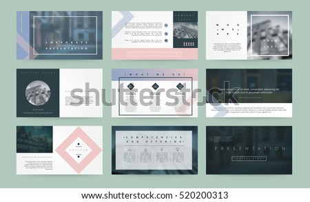 Abstract vector backgrounds of digital technologies. Set of vector templates for presentation slides and business presentation.