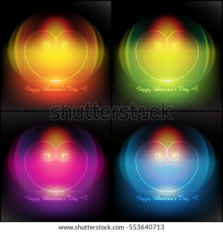 abstract vector banner set of 4