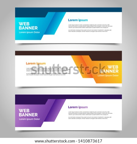 abstract vector banners.modern template design for web #1410873617