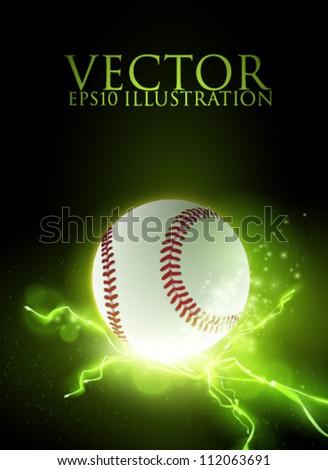 abstract vector baseball ball