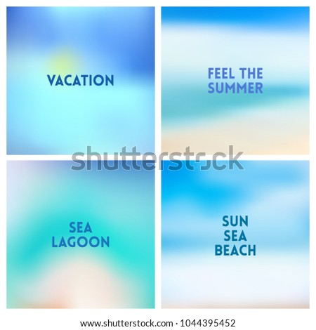 abstract vector beach blurred